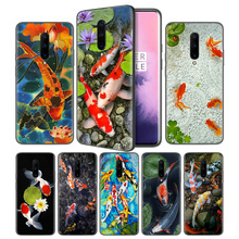 Koi Fish Lucky Japan Soft Black Silicone Case Cover for OnePlus 6 6T 7 Pro 5G Ultra-thin TPU Phone Back Protective