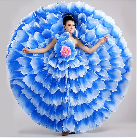 S 3xl女性フラメンコダンス衣装女性モダンダンス拡張ドレス4色スペインダンス衣装540 720度89  グループ上の ノベルティ & 特殊用途 からの フラメンコ の中 1