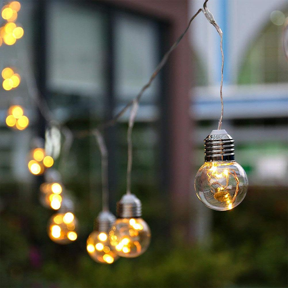 String Lights G45 Bulbs Hanging Waterproof For Garden Cafe