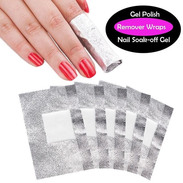 60bo Lot Nail Art Soak Off Uv Gel Polish Remover Foils Wraps Perfect