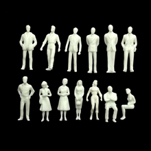 50Pcs Scale Model Figure 1:50 Miniature White Figures Architectural Model Human Scale HO Model ABS Plastic Peoples Toy