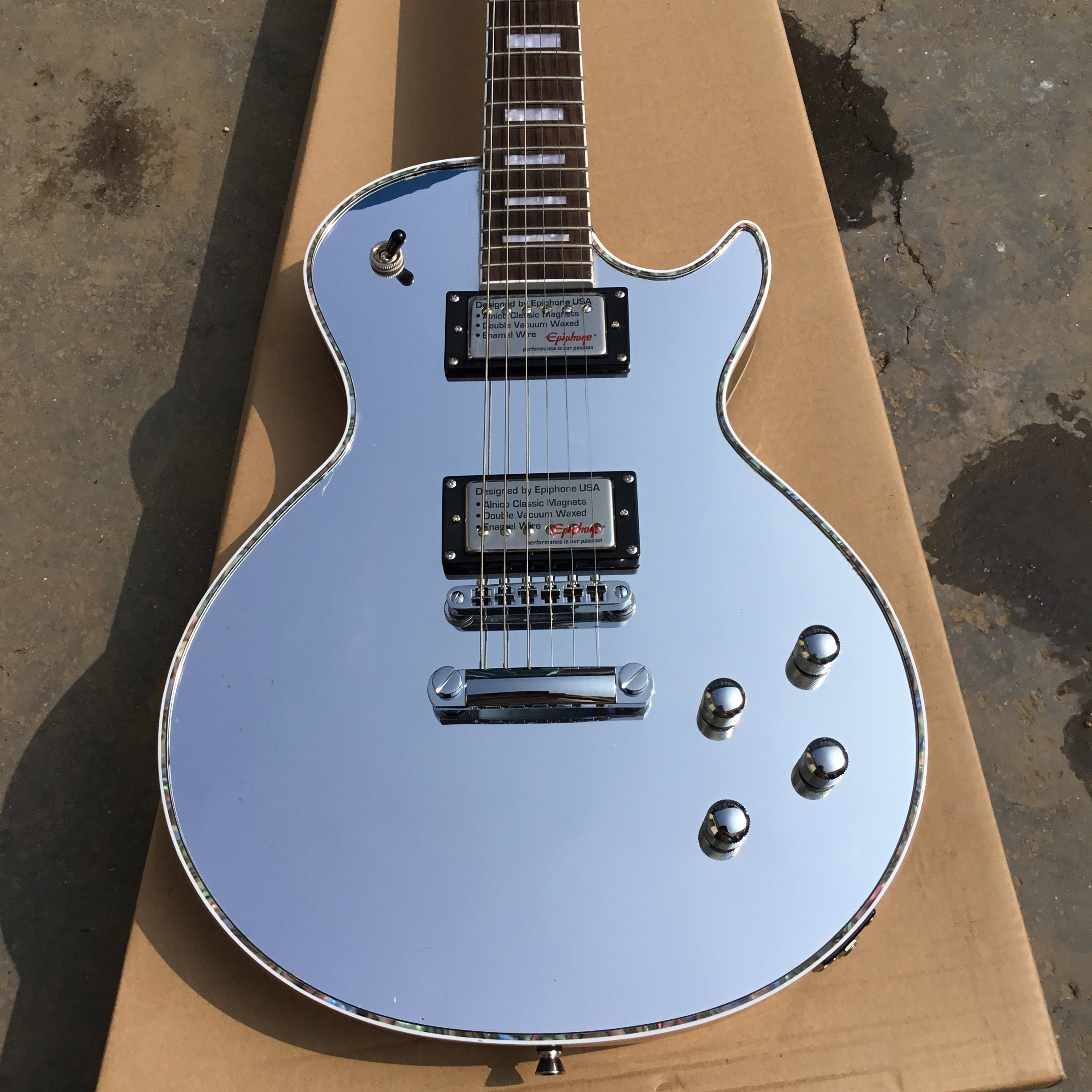 China custom factory new arrival mirror LP guitar China CUSTOM electric guitars store musical instruments(China)