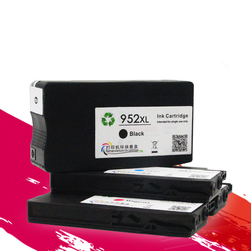 For OfficeJet Pro 7740 Wide Format 8210 8216 8702 8710 8715 8720 8725 8730 8740 compatible <font><b>952XL</b></font> 952 full ink cartridge image