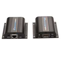 TOP 60m HDMI Network Extender Over Single Cable with IR ,Cat5e/6 Ethernet Cable 3D&1080P Supported Compatible HDCP Full HD