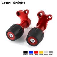 For HONDA PCX 125 PCX125 Forza Motorcycle CNC Aluminum Adjustable Exhaust Pipe Frame Sliders Falling Protection