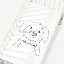 1 шт., детский наматрасник, хлопок, простыня для детской кроватки для маленьких мальчиков и девочек, 120x65 см, детская кроватка