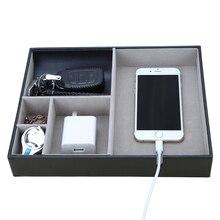 Многофункциональная дизайнерская коробка для хранения входных ключей, держатель для мобильного телефона, чехол для часов, офисные аксессуары, органайзер для стола
