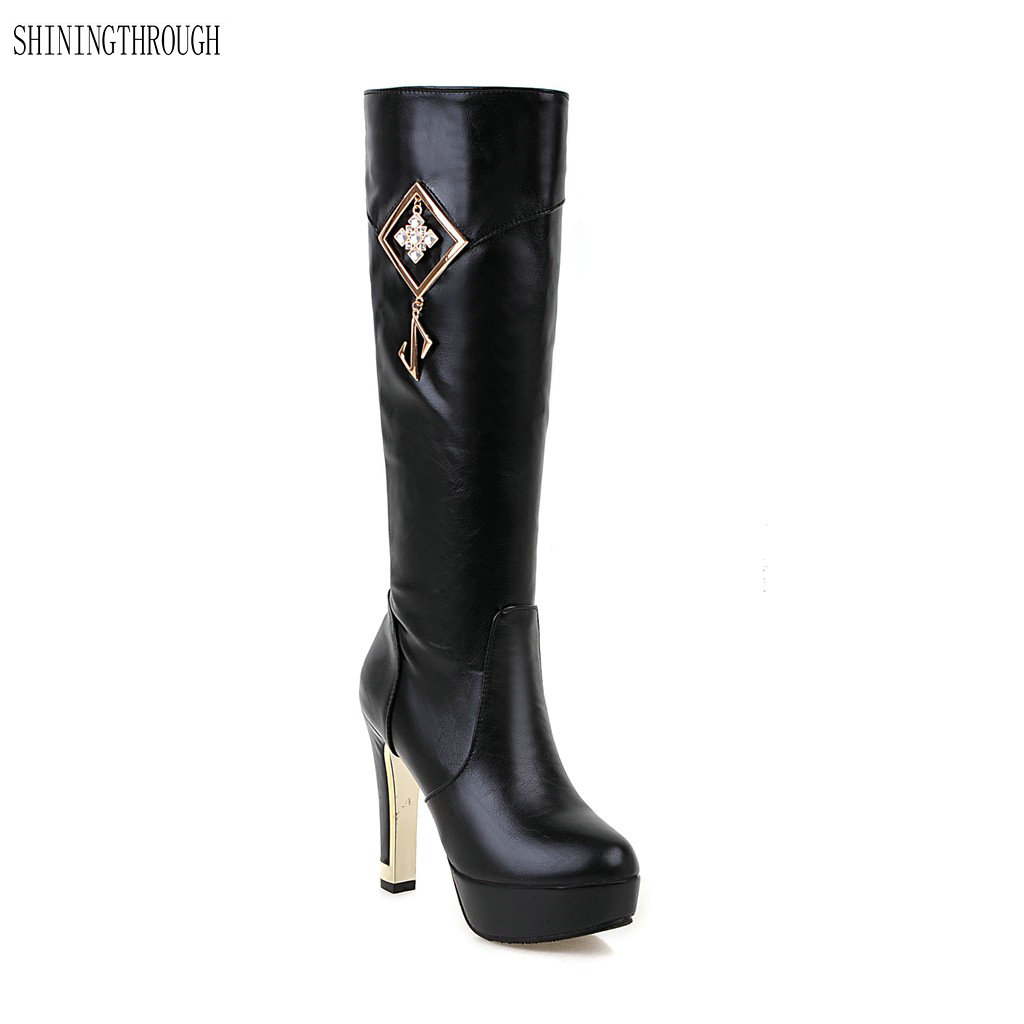 New fashion women boots winter knee high boots woman sexy party dress shoes woman high heels boots women shoes large size 34-43 new sexy women boots winter over the knee high boots party dress boots woman high heels snow boots women shoes large size 34 43