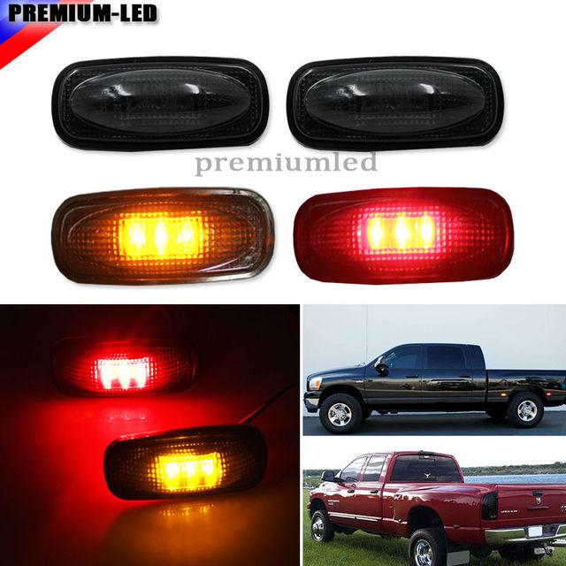 Smoke Lens Led Fender Bed Side Marker Lights Set For Dodge Ram Jpg X on Dodge Ram 4500 Weight