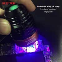 Wozniak Aluminium Alloy UV Curing Adhesive Green Oil Heating Lamp Multipurpose Mainboard CHIP Maintenance BGA Violet LED