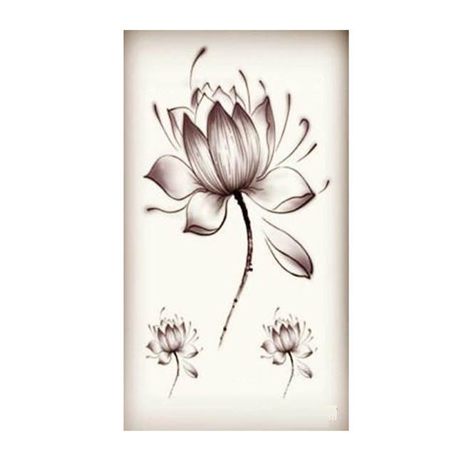Online Shop New Large Design Water Transfer Temporary Tattoos