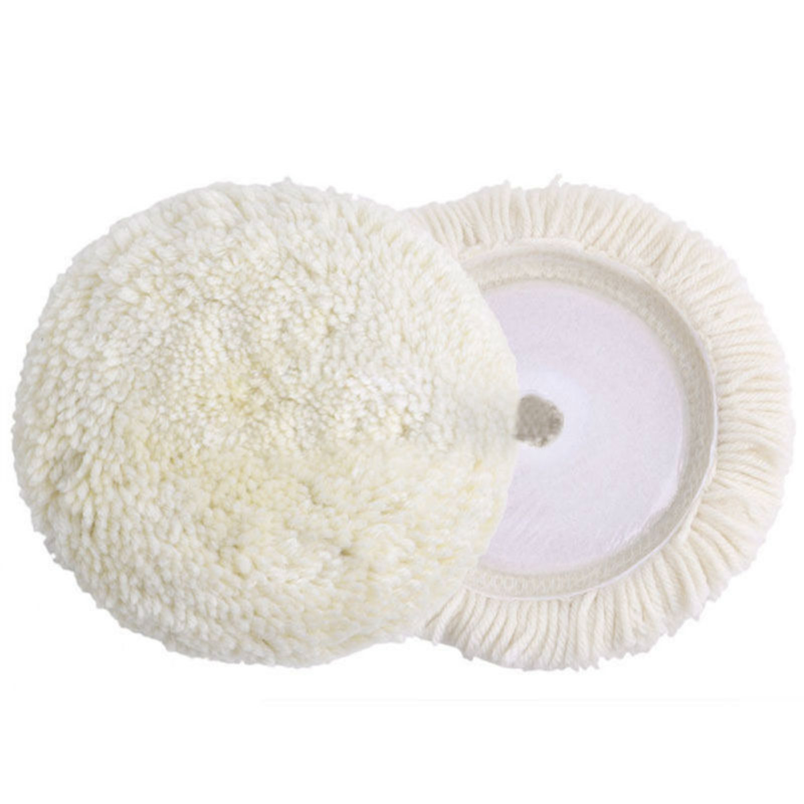 1pc Cleaning Tools 7 180mm Round Wool Polishing Buffing Detailing Pad High Quality For Car Polisher Buffer