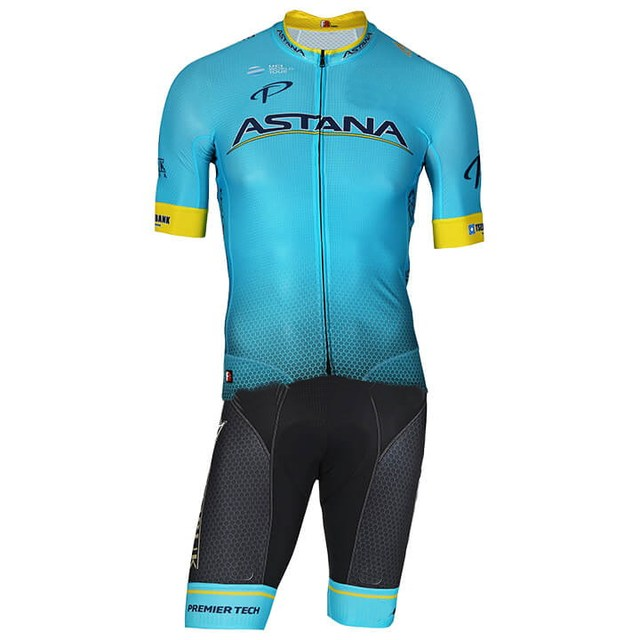 7acd7c593 MEN'S CYCLING WEAR CYCLING JERSEY BODY SUIT SKINSUIT WITH POWER BAND 2018  ASTANA PRO TEAM 3D