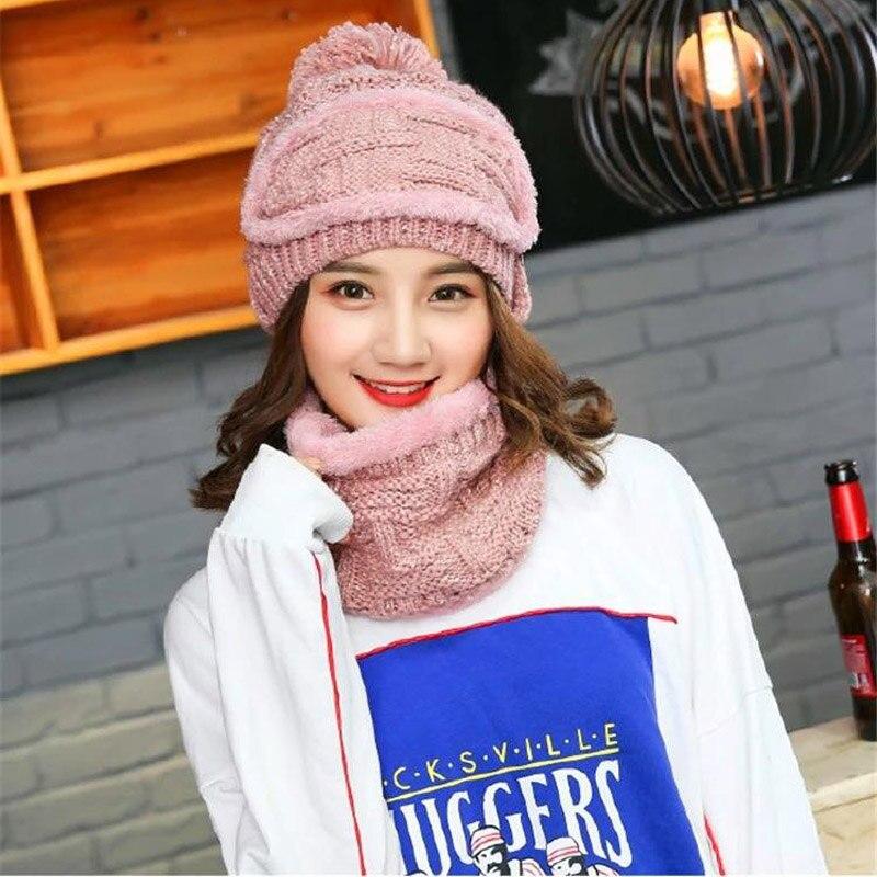 de5cc0b2 2019 nuevo sombrero de invierno para mujer sombrero grueso gorros sombreros  añadir Sacrf y ...