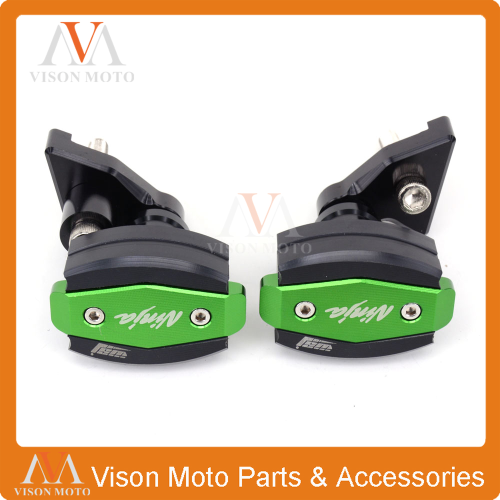 Motorcycle CNC Crash Pad Frame Slider Protection Guard For KAWASAKI ZX10R ZX-10R 2011 2012 2013 11 12 13