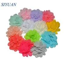 Hair-Accessories Flower Chiffon Girls Mini Dress Puff 20-Color 50pcs/Lot Ornaments U-Pick-2inch