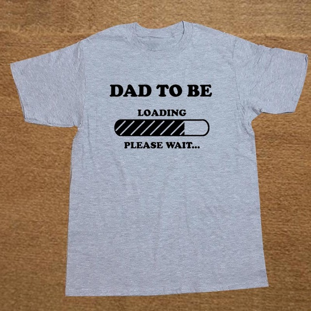 07309df2 Dad to Be Future Dad Maternity Baby Announcement Father Dad Christmas Gift T -SHIRT Short Sleeve Cotton T Shirt