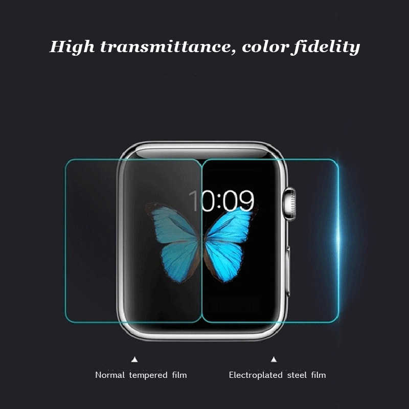 2.5D 9H Tempered Glass For Apple Watch Series 1 2 3 4 40 44 mm 38 42 Screen Premium Protective Film For iWatch Ultra Thin Glass