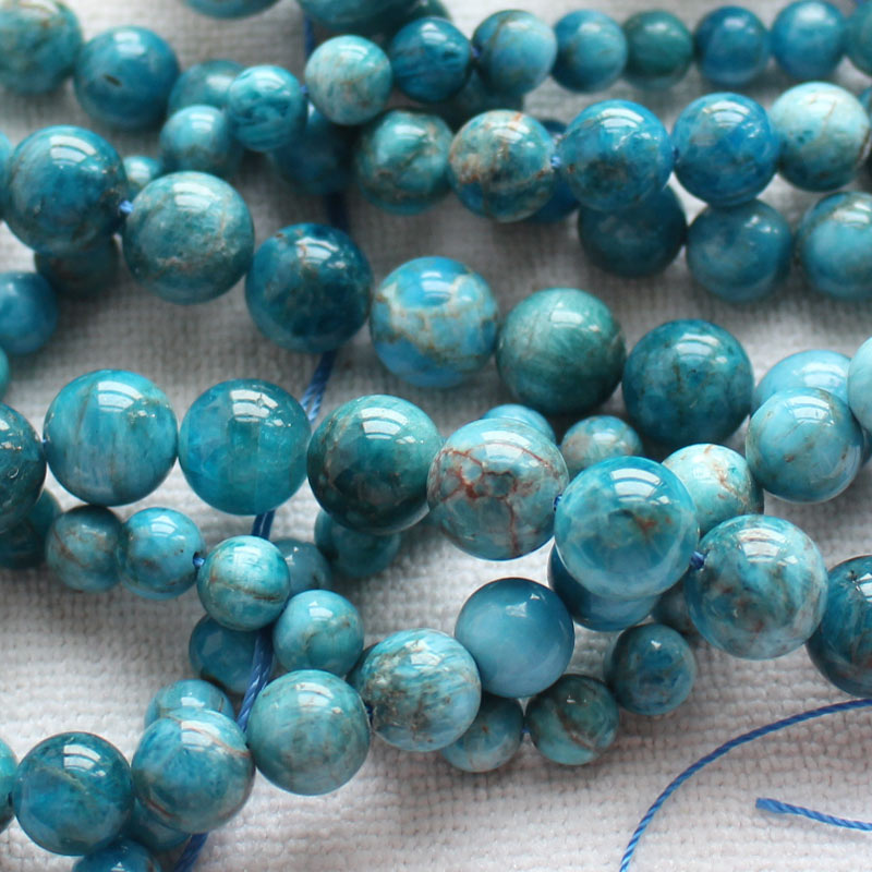 8-14mm Natural Natural Apatite Round Beads 15100% Natural Stone Guarantee,For DIY Jewelry Making !wholesale for all items! 210pcs lot 10 14mm pear drop crystal fancy stone point back teardrop droplet glass stone for jewelry making diy accessory