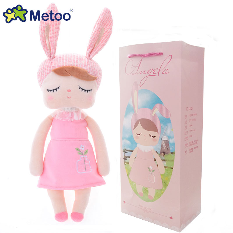Lovely Soft Plush Toys Metoo Angela Rabbit Animal Series Plush Dolls for Kids Birthday Gift for Girls Metoo Doll metoo angela plush dolls 17 7inch baby toy doll sweet lovely stuffed toys dolls for kids girls birthday christmas gift with bag