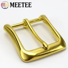 Meetee ID 40mm Pure Copper Brass Belt Pin Buckle for 38-39mm Leather Belt for Women Men Pants Jeans Craft Accessories AP662 стоимость