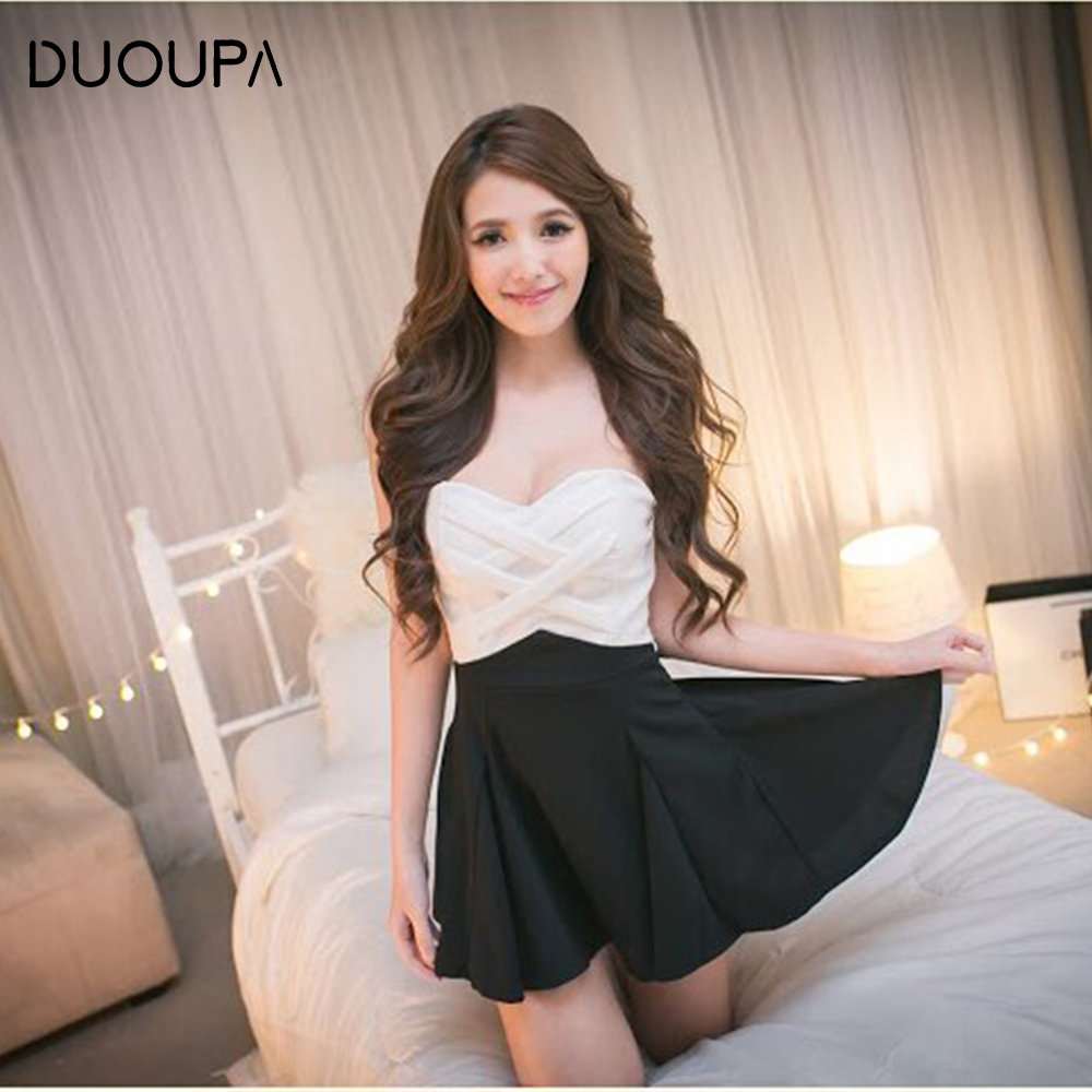 DUOUPA Sexy Cross Stitching Backless Tight Dress Female Sleeveless Summer Short Casual Mini