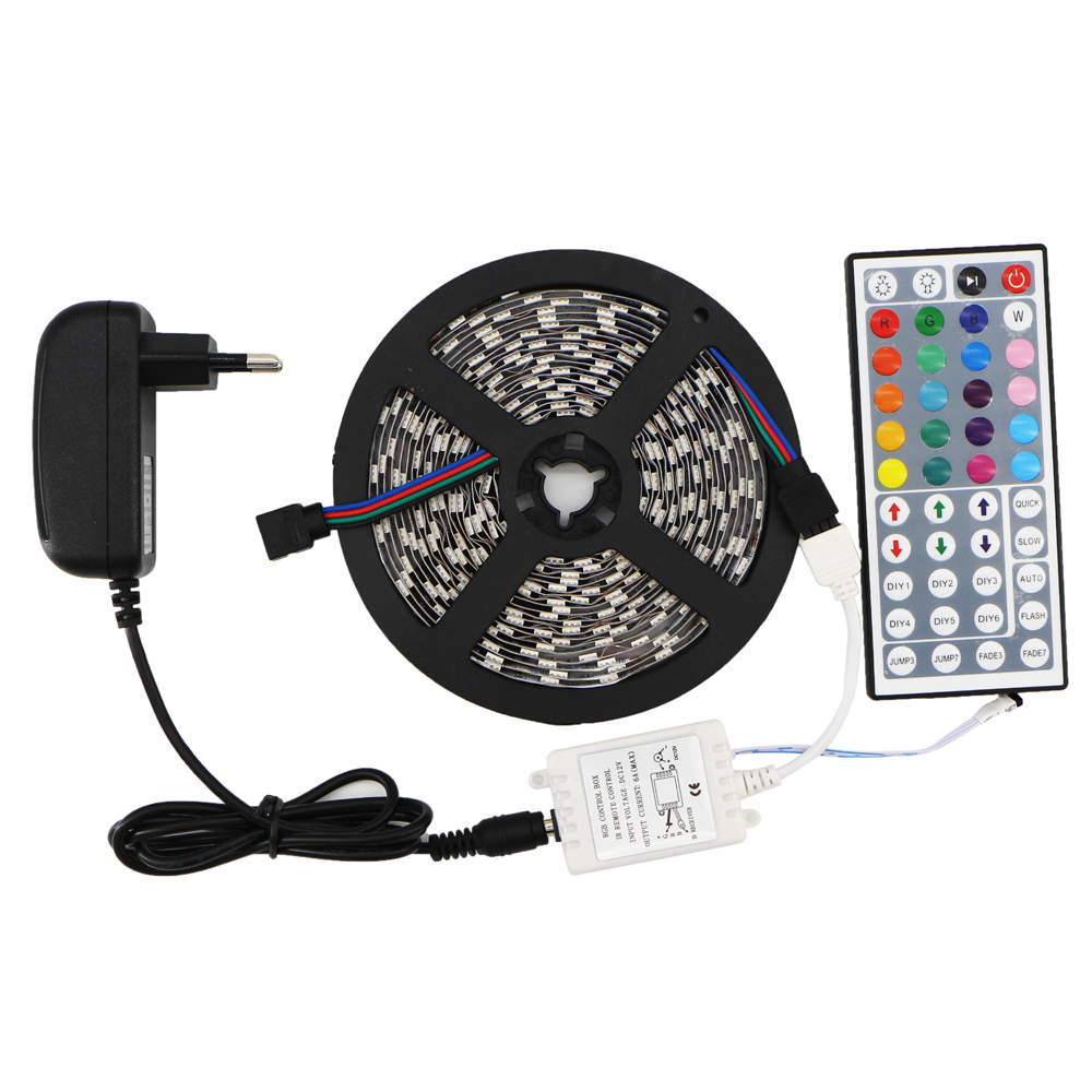 5m Smd 5050 Rgb Led Flexible Strip Light Kit 300leds