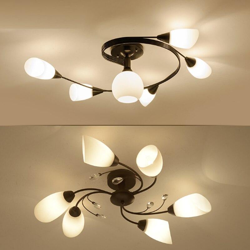 Crystal ceiling lamp modern living room lamp children room bedroom led lights restaurant ceiling light modern crystal lighting