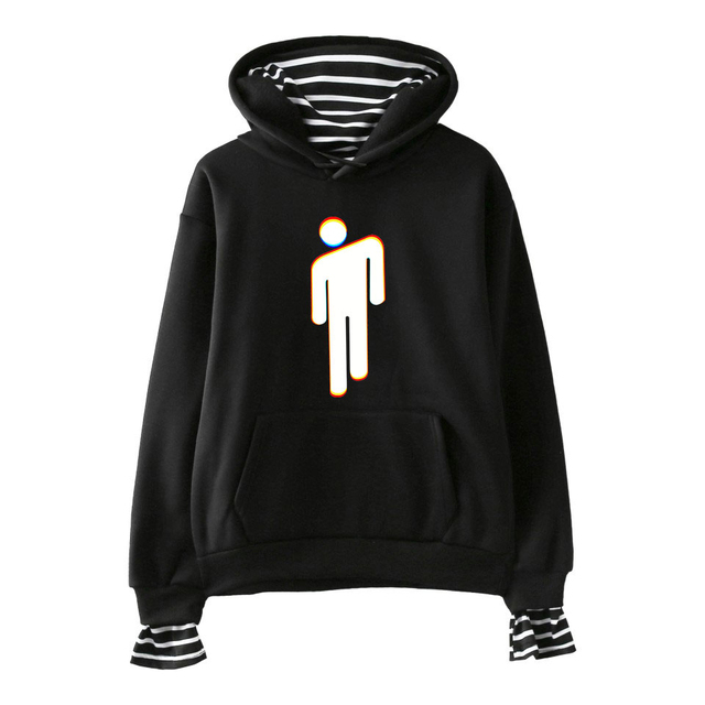 49a0962a37022 FADUN TOMMY Billie Eilish Print Fake Two Pieces Hoodies 2018 Hot Sale Casual  Women Hoodies Sweatshirts