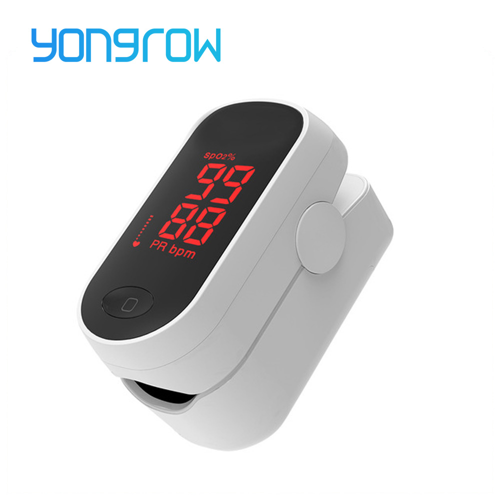 Yongrow LED Fingertip Pulse Oximeter Digital Pulse Oximeter Blood Oxygen Saturation Portable Monitor Medical Health Care Spo2 PR
