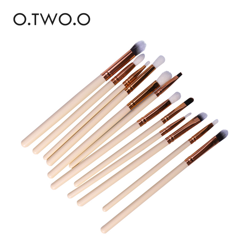 O.TWO.O 12pcs Make up Brushes Eyeshadow Brush Set Eyeliner Brush Eyebrow Eyeliner brush