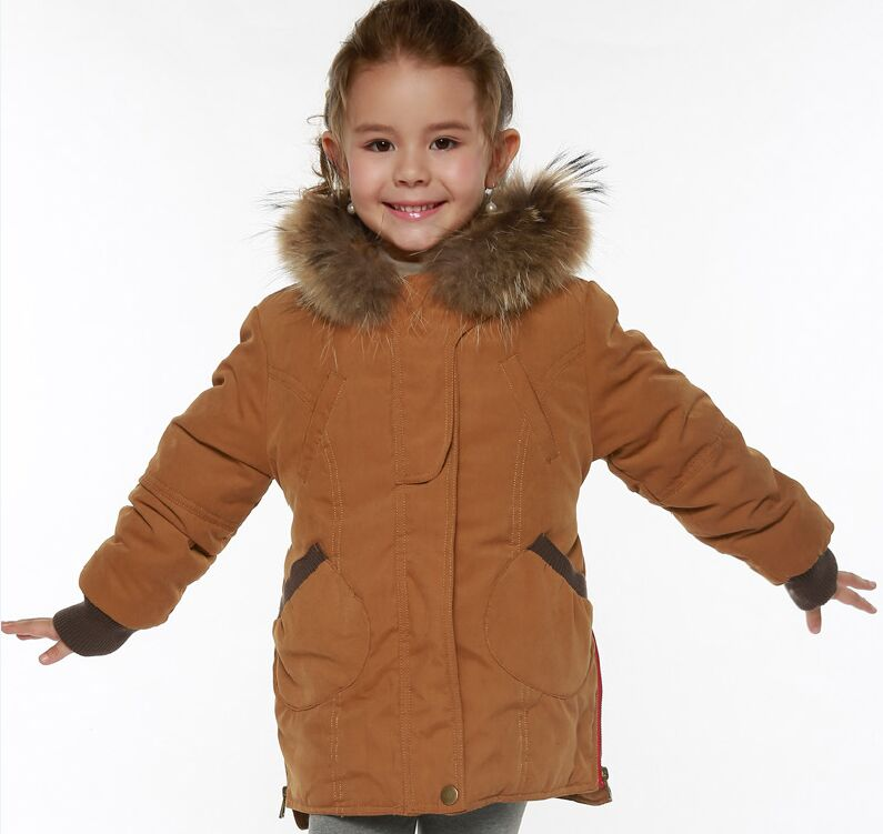 New 2017 Winter Girls Down Coat Kids Warm Windproof Parkas Children Down Jacket Girl Thick Fur Collar Hooded Coat For Girls 2017 new baby girls boys winter coats jacket children down outerwear warm thick outdoor kids fur collar snow proof coat parkas