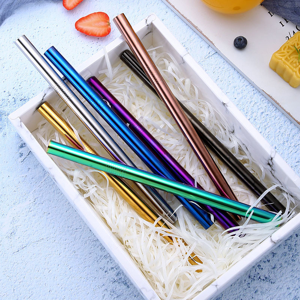 Lovely Tito Titanium Straws With Cleaner Brush Titanium Mike Tea Straw Kitchen Outdoor Camping Drinking Family And Holiday Gift Straws Campcookingsupplies