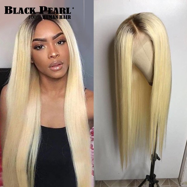 Black Pearl Ombre Bundles With Closure Peruvian Straight Hair 613 Honey Blonde Bundles With Closure Remy 613 Hair Extensions 1