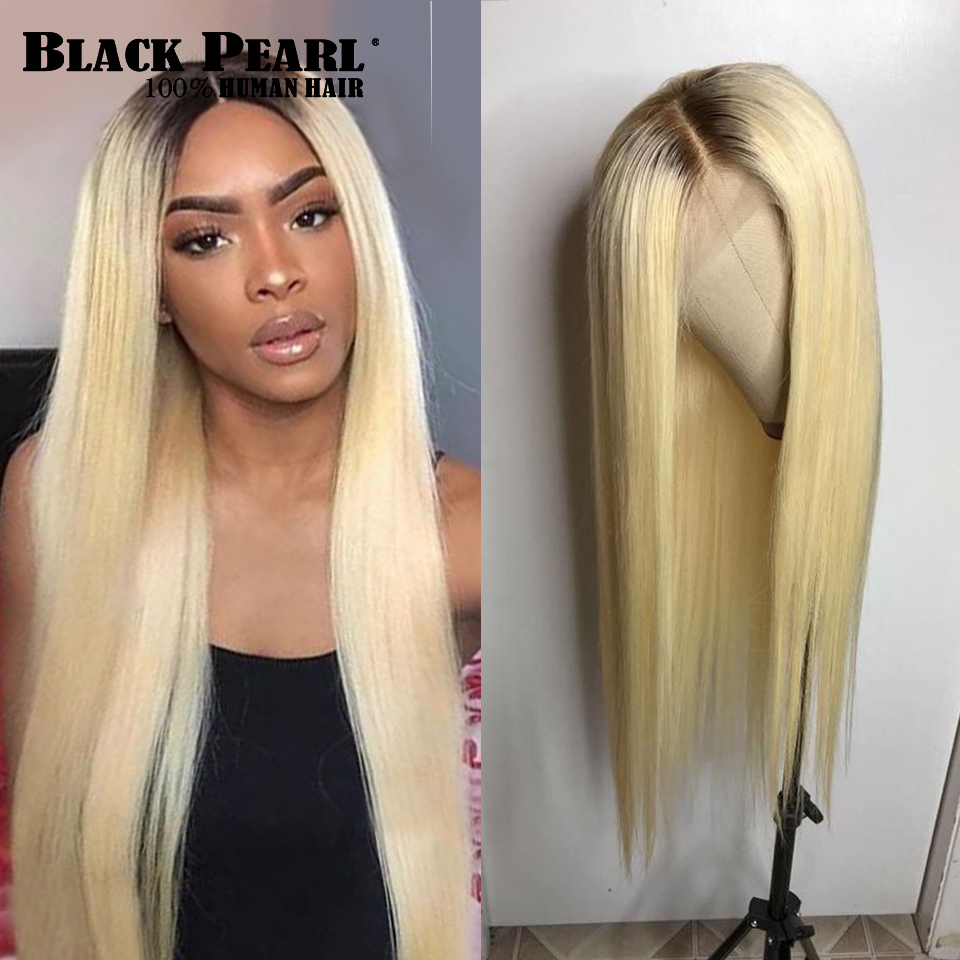 Image 2 - Black Pearl Ombre Bundles With Closure Peruvian Straight Hair 613 Honey Blonde Bundles With Closure Remy 613 Hair Extensions-in 3/4 Bundles with Closure from Hair Extensions & Wigs