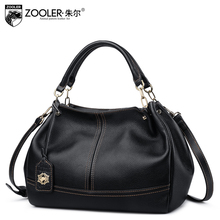 Russia Ship ZOOLER 2017 Genuine Leather woman bags handbags women famous brands shoulder bags for ladies bolsa mochilas#BC-8160