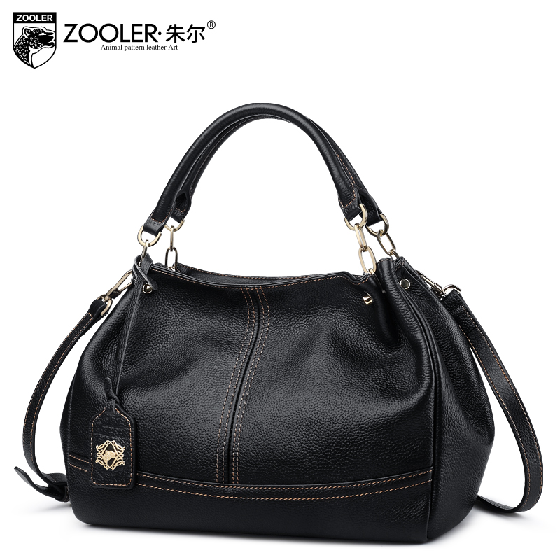 Russia Ship ZOOLER 2017 Genuine Leather woman bags handbags women famous brands shoulder bags for ladies