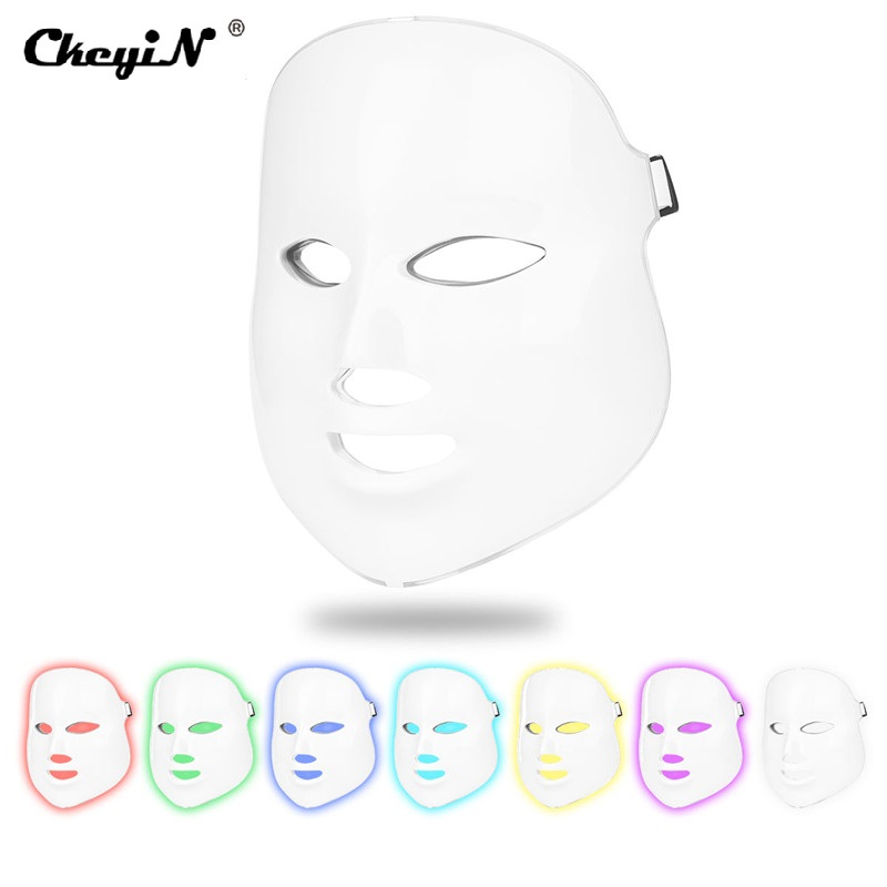 Electric 7 Colors LED Face Mask PDT Photon Skin Care Rejuvenation Anti Acne Wrinkle Removal Spa