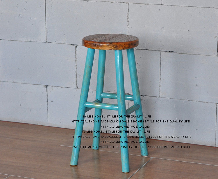 Hoge Houten Kinderstoel Ikea.Europese En Amerikaanse Stijl Vintage Houten Barkruk Bar Stoel Hoge