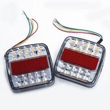 цена на 2pcs ABS LED Indicator Lights Stop Rear Tail Reverse Light Indicator License Plate Lamp Car Truck Trailer LED Light DC12V