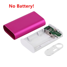 5600mah Portable USB Charging External Power Bank Case 2*18650 Battery Powerbank Supply Charger adapter For Phones (No Battery)