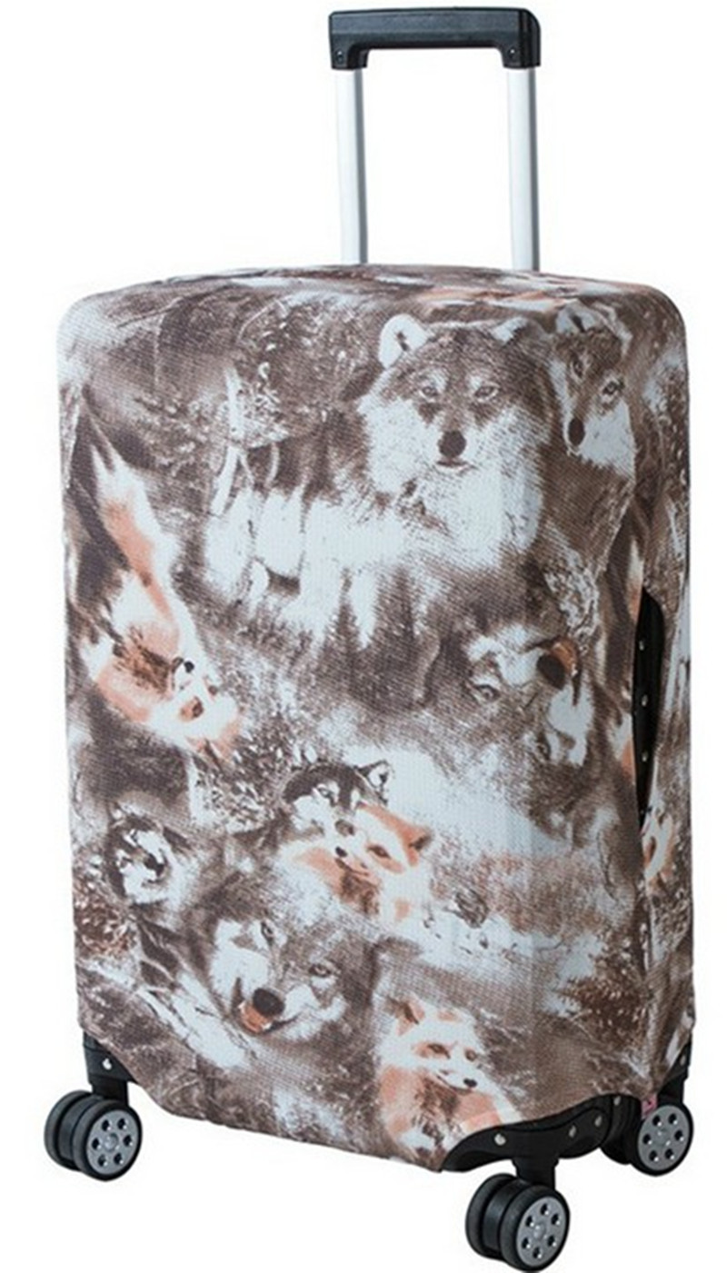 Travel Accessories Luggage Cover Protective Suitcase Cover Trolley Case Cartoon Animal Plant Pattern Travel Luggage Dust Cover in Travel Accessories from Luggage Bags
