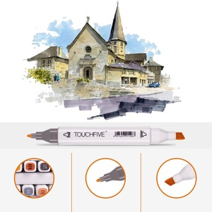 Image 5 - TOUCHFIVE 48/60/80/168 Colors Dual Handle Sketch Markers Professional Art Marker For Manga Comic Design Drawing Art Pen Support
