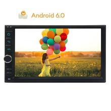 Автомобиль Радио стерео Android 6.0 quad-core GPS навигация в тире 2din автомагнитолы плеер Поддержка автоматического Радио wi-Fi 4 г/3G USB/SD МЖК