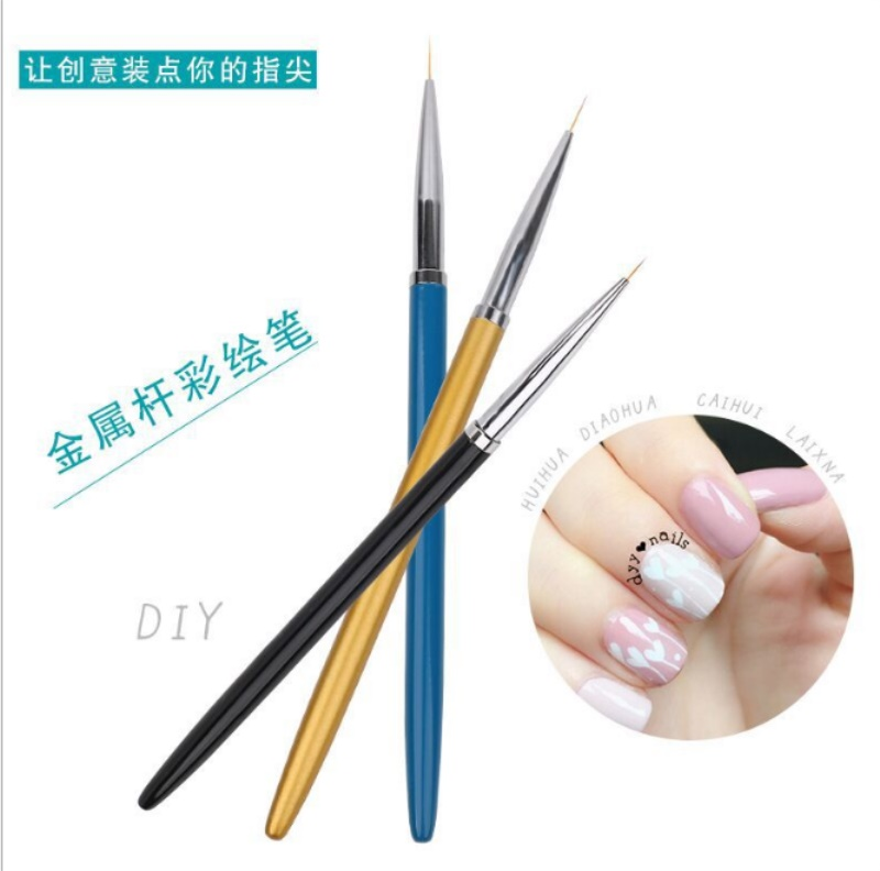 3 Sizes Nail Art Painting Liner Pens Handle Gel Polish Tips 3D Petal Flower French Line DIY Drawing Brushes  by DHL 500sets