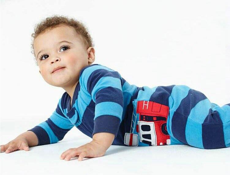 Niños niños y niñas paño grueso y suave ropa de escalada siamesa - Ropa de bebé - foto 3