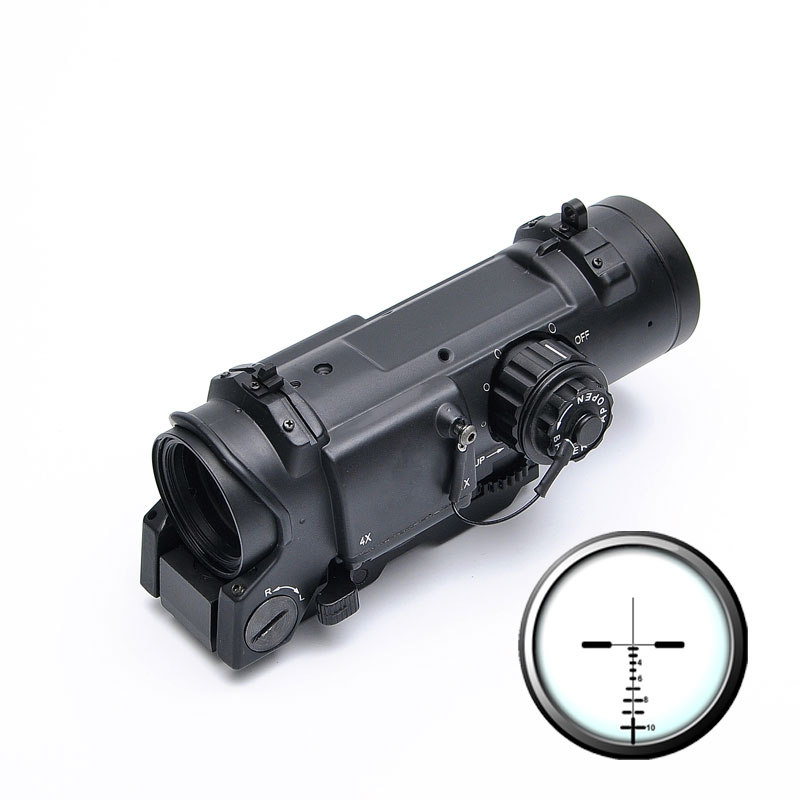 Tactical Rifle <font><b>Scope</b></font> Quick Detachable <font><b>1X</b></font>-<font><b>4X</b></font> Adjustable Dual Role Sight For Hunting image