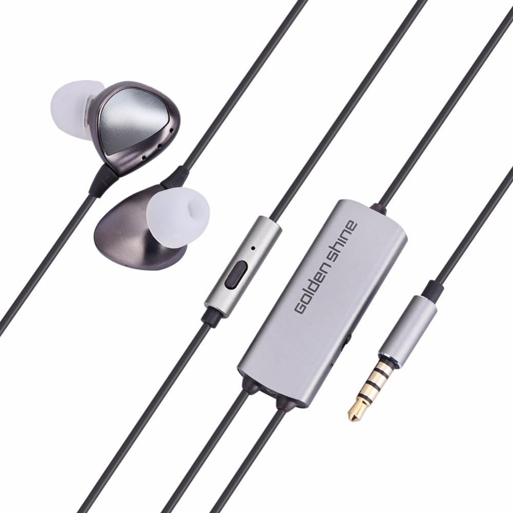 ФОТО fashional Active Noise-canceling Earphones HiFi Music Stereo In-ear Earpiece Earbuds 1.17m