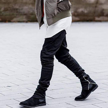 NEW army Pants Casual Skinny Zipper botton Sweatpants Solid Hip Hop Trousers Jogger Pants Men Joggers Slimming pants