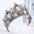 Baroque Crystal Bridal Tiara Vintage Wedding Hair Crown Accessories Pearl Women Hair Jewelry Tiaras